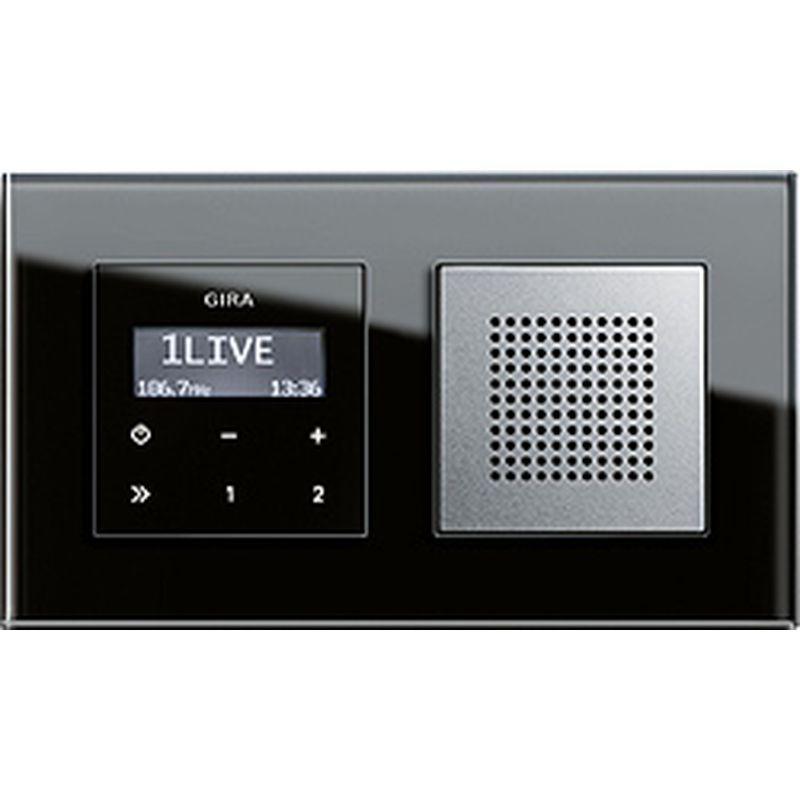 Gira Unterputz Radio Esprit Mit Rds Funktion Und Hochwertige Glas Rahmen Unterputzradio Schalterprogramm Und Glas