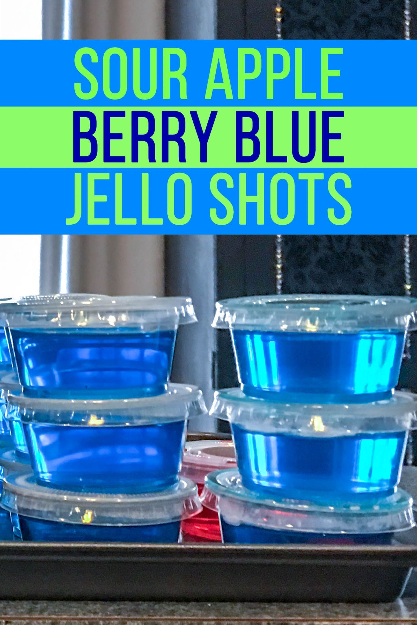 Sour Apple Blue Jello Shots Recipe - Entertaining Diva Recipes @ From House To Home
