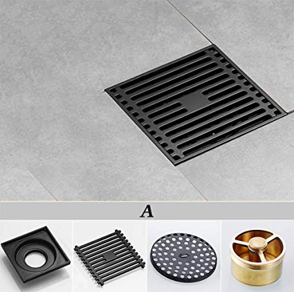 Square Floor Drain Electroplated Copper Waste Drain Cover For Bathroom Shower Room Toilet Laundry Garden Outdoor P Outdoor Panels Floor Drains Bathroom Shower