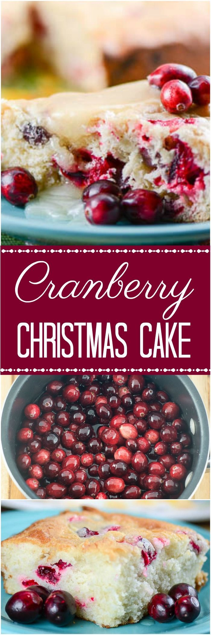 Homemade Fresh Cranberry Christmas Cake is an easy