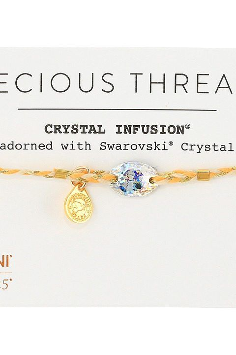 Alex and Ani Precious Threads Golden Ray Crystal Daybreak Braid Bracelet (14kt Gold Plate) Bracelet - Alex and Ani, Precious Threads Golden Ray Crystal Daybreak Braid Bracelet, A17PTGDG, Jewelry Bracelet General, Bracelet, Bracelet, Jewelry, Gift, - Street Fashion And Style Ideas