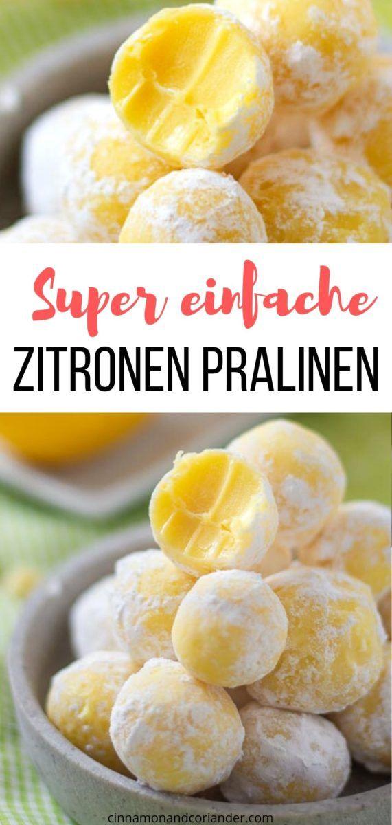 Einfaches Zitronen Pralinen Rezept - kinderleicht & perfekt für Anfänger