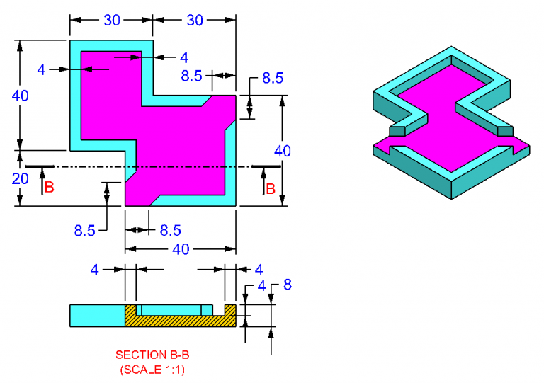 AutoCAD_3D_Exercise_20 practice drawings for beginners