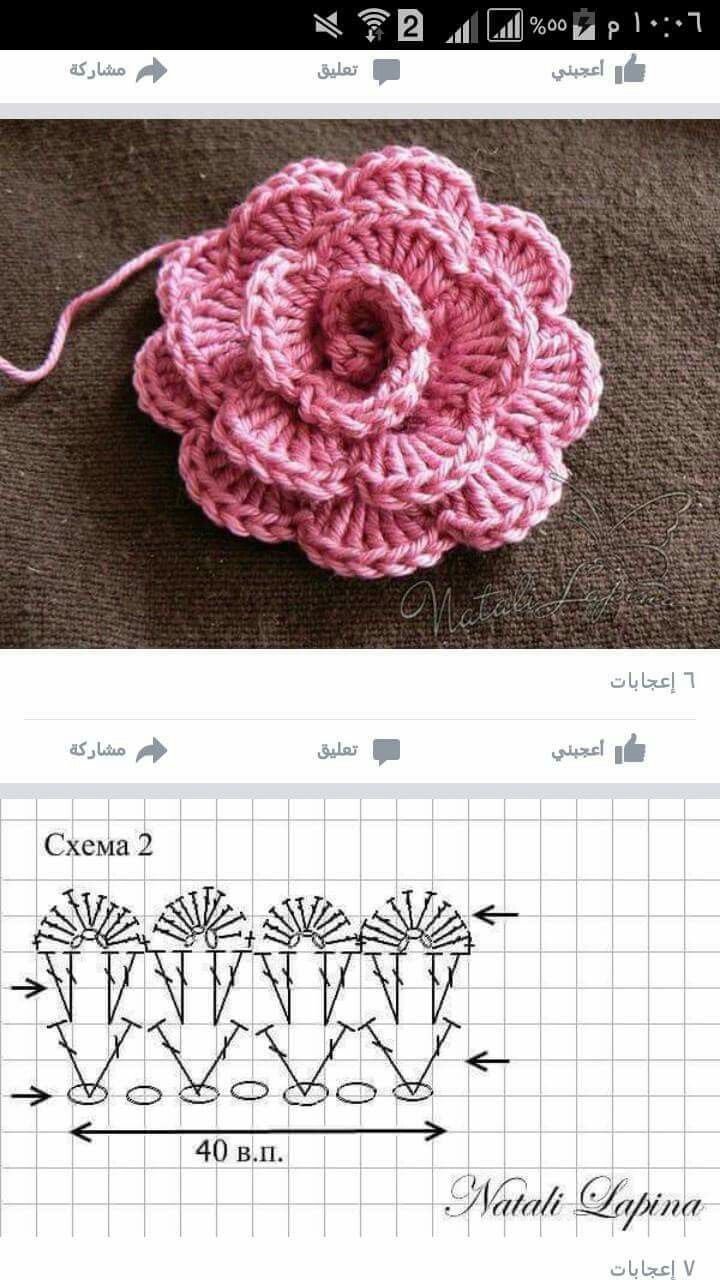 Pin de Otilia Rodriguez en Bufanda | Pinterest | Ganchillo, Flores y ...