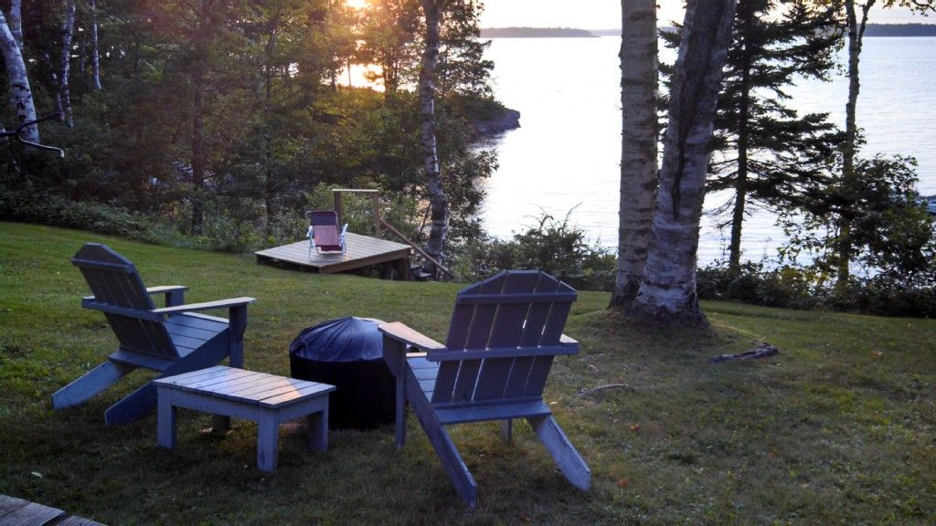 Harpswell cottage rental amazing sunsets from waterfront
