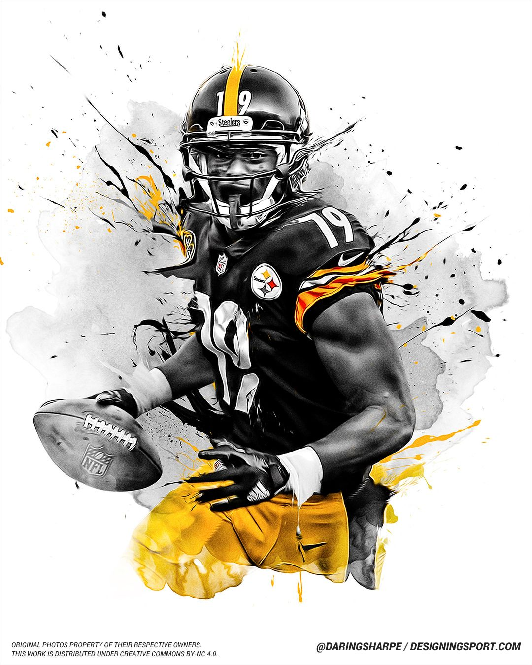 eb168543e48 JuJu Smith-Schuster, Pittsburgh Steelers - Designing Sport | Graphic ...