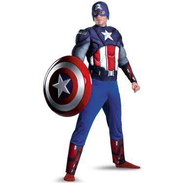 Marvel\u0027s Captain America Civil War Captain America Deluxe Muscle - halloween costumes ideas men