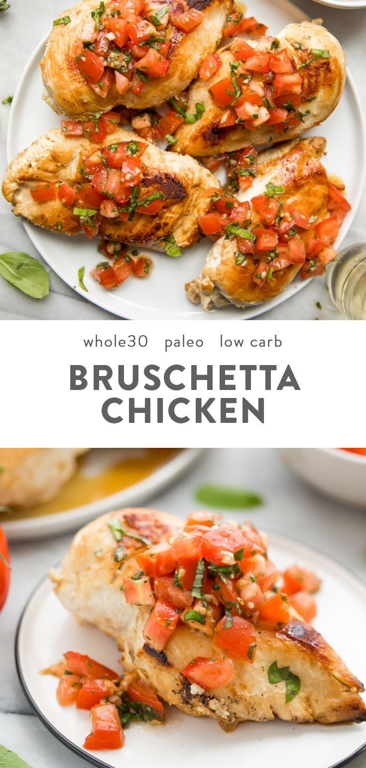 Bruschetta Chicken (Whole30, Paleo, Low Carb) images