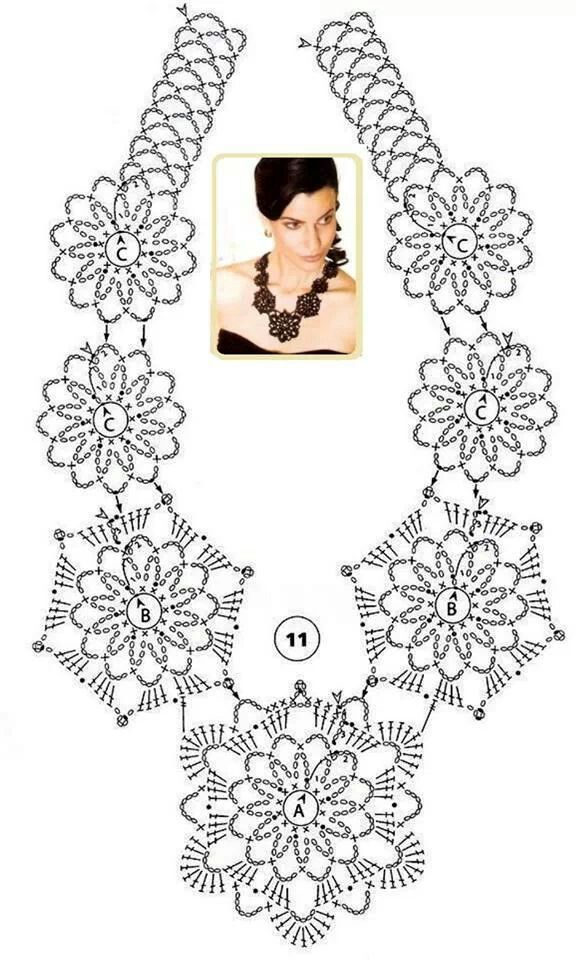 Collar a crochet | Projects to Try | Pinterest | Collares, Collares ...