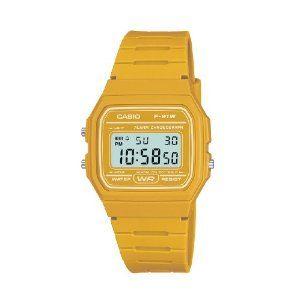 df324b37104 Casio Men s F-91WC-9AEF Quartz Watch with Digital Display and Resin Strap  Yellow