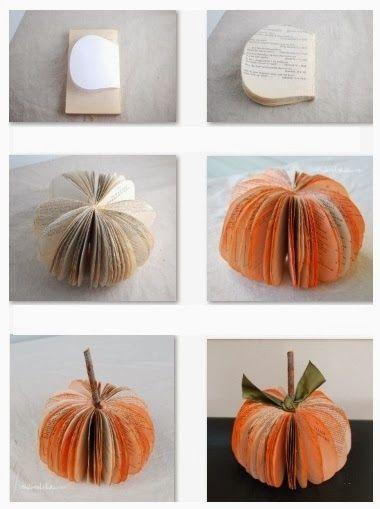 Calabaza de Halloween con Libros o Revistas, Manualidades Faciles ...