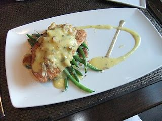 horseradish & crab crusted salmon from Spoon