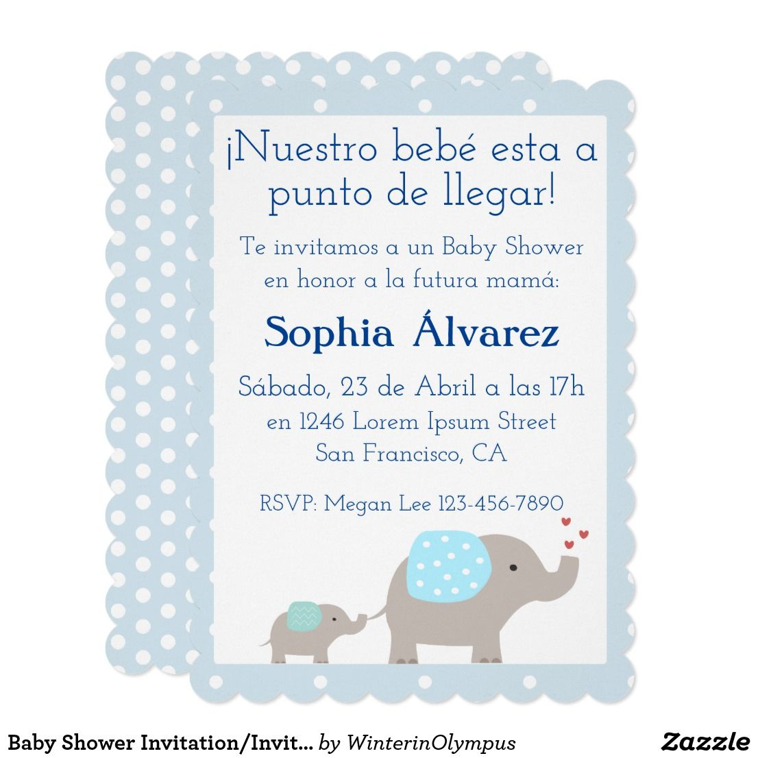 Baby shower invitationinvitacin para baby shower invitation baby shower invitationinvitacin para baby shower card invite your friends and family to share stopboris Gallery