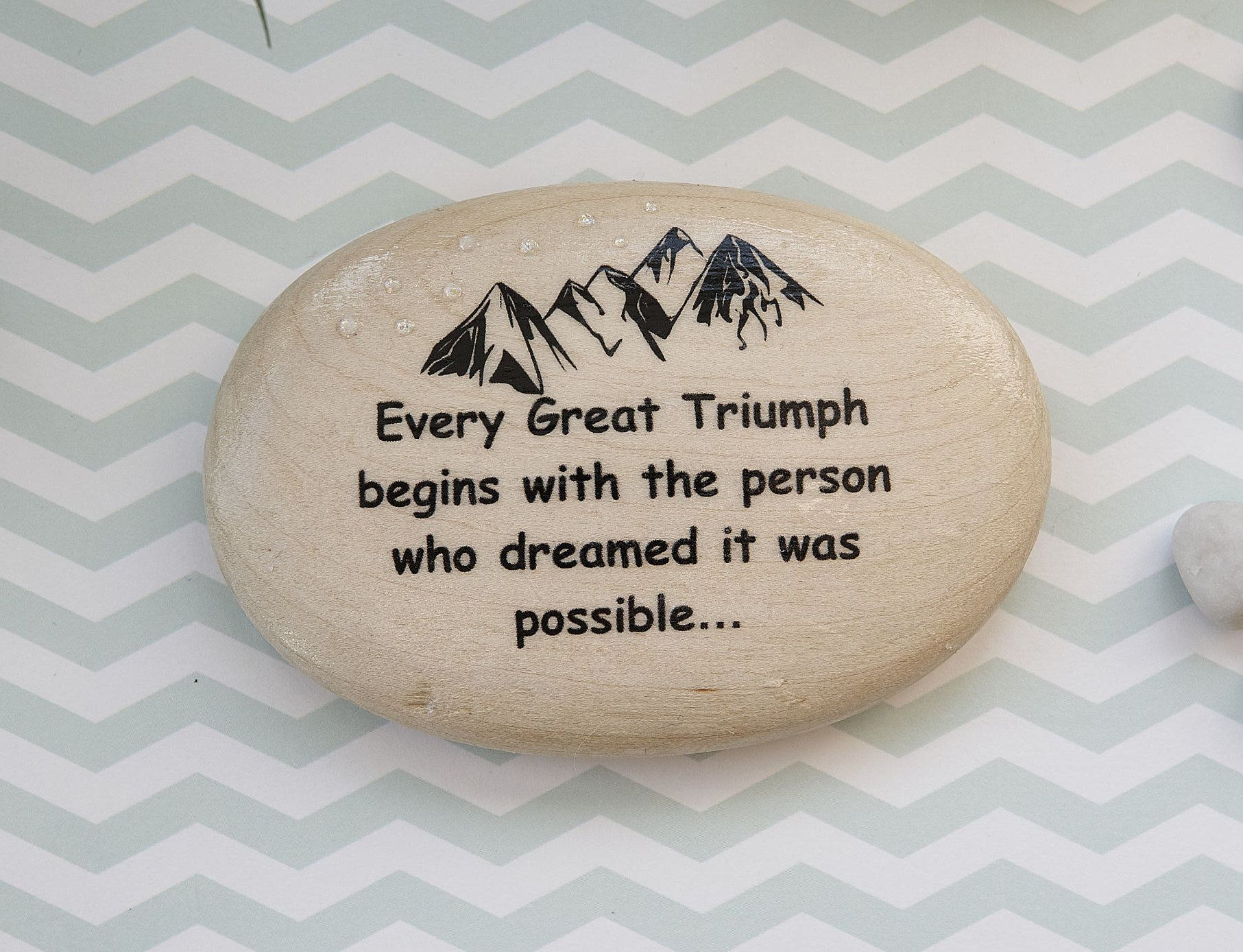 Motivational pebble inspirational gift follow your dreams