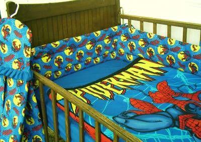 Spiderman Nursery Sites On Baby Crib Set Bedding