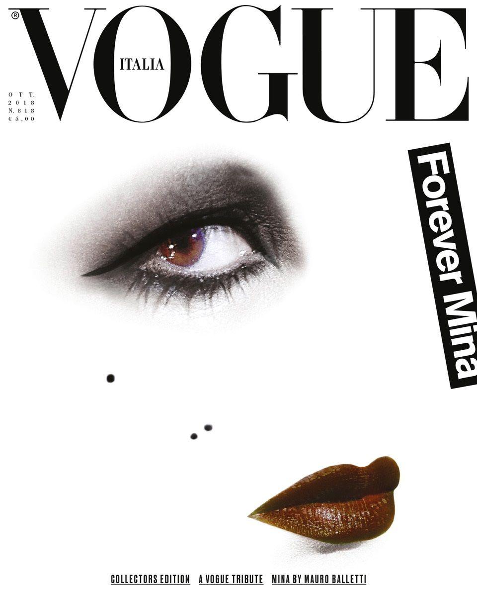 Vogue Italia Celebra Mina La Cover Di Mauro Balletti Vogue Cappotti Di Pelle Maybelline