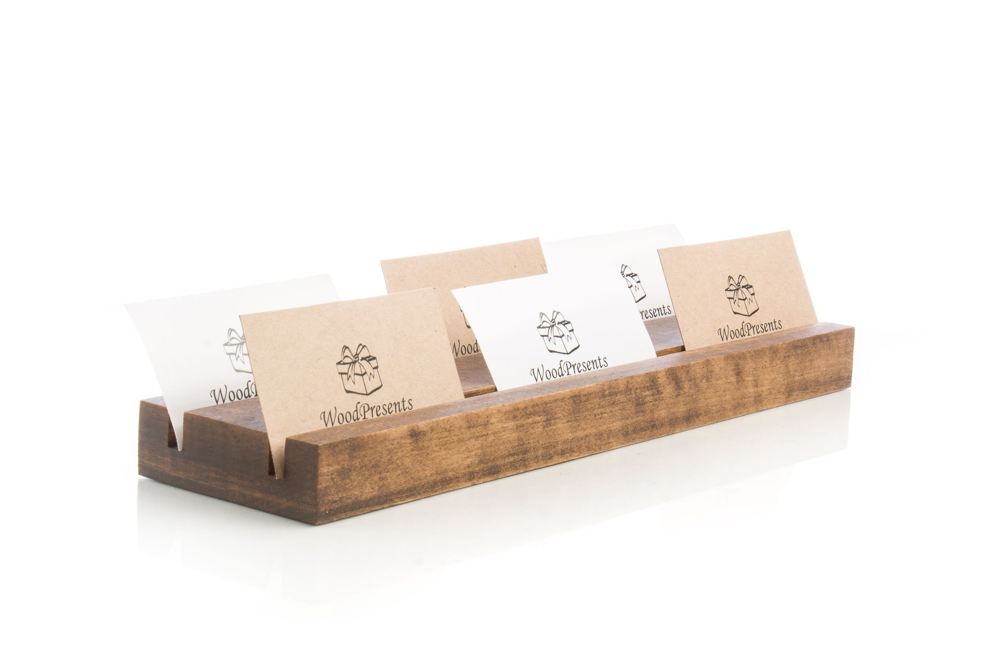 Multiple Business Card Holder Personalized Desk Organizer Etsy Personalized Desk Organization Wood Card Business Card Holders