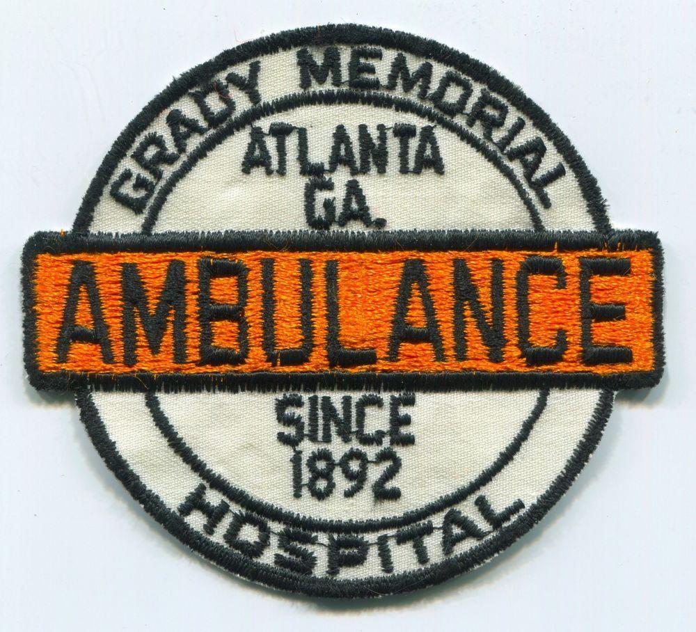 PATCH GRADY MEMORIAL HOSPITAL AMBULANCE ATLANTA