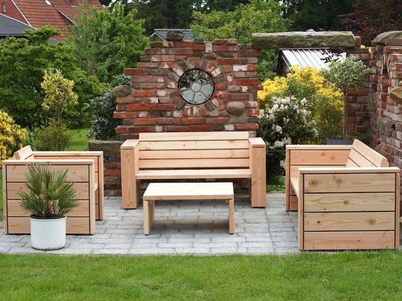 Loungemöbel Holz Outdoor Diy Loungemöbel Holz Natur Made In Germany Aufbewahrung ...