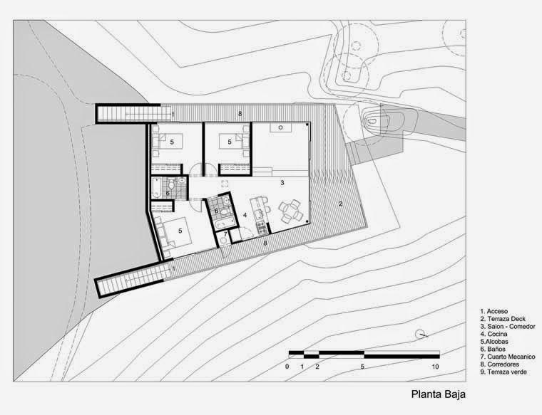 Arquitectura de casas casa moderna de campo refugio for Arquitectura moderna en colombia