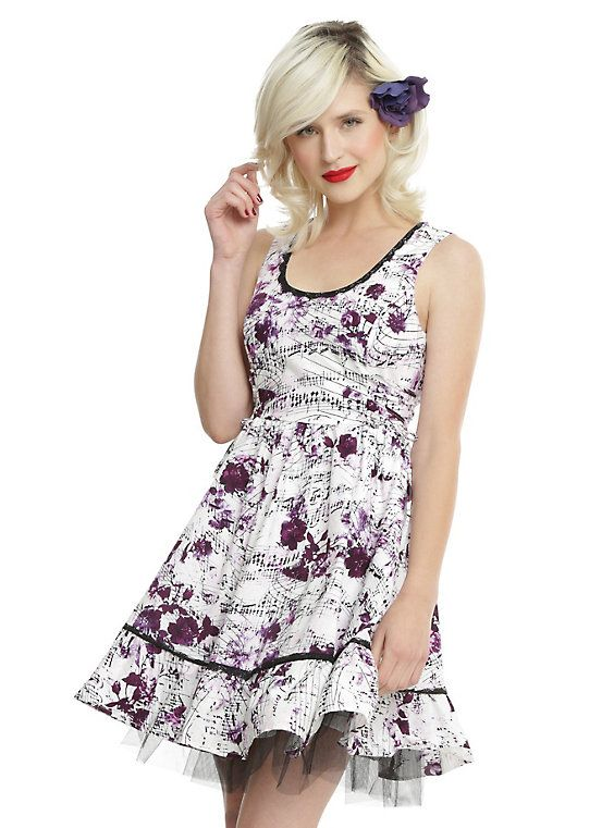 Rose Music Note Dress 1 Hot Topic Pinterest Dresses Music