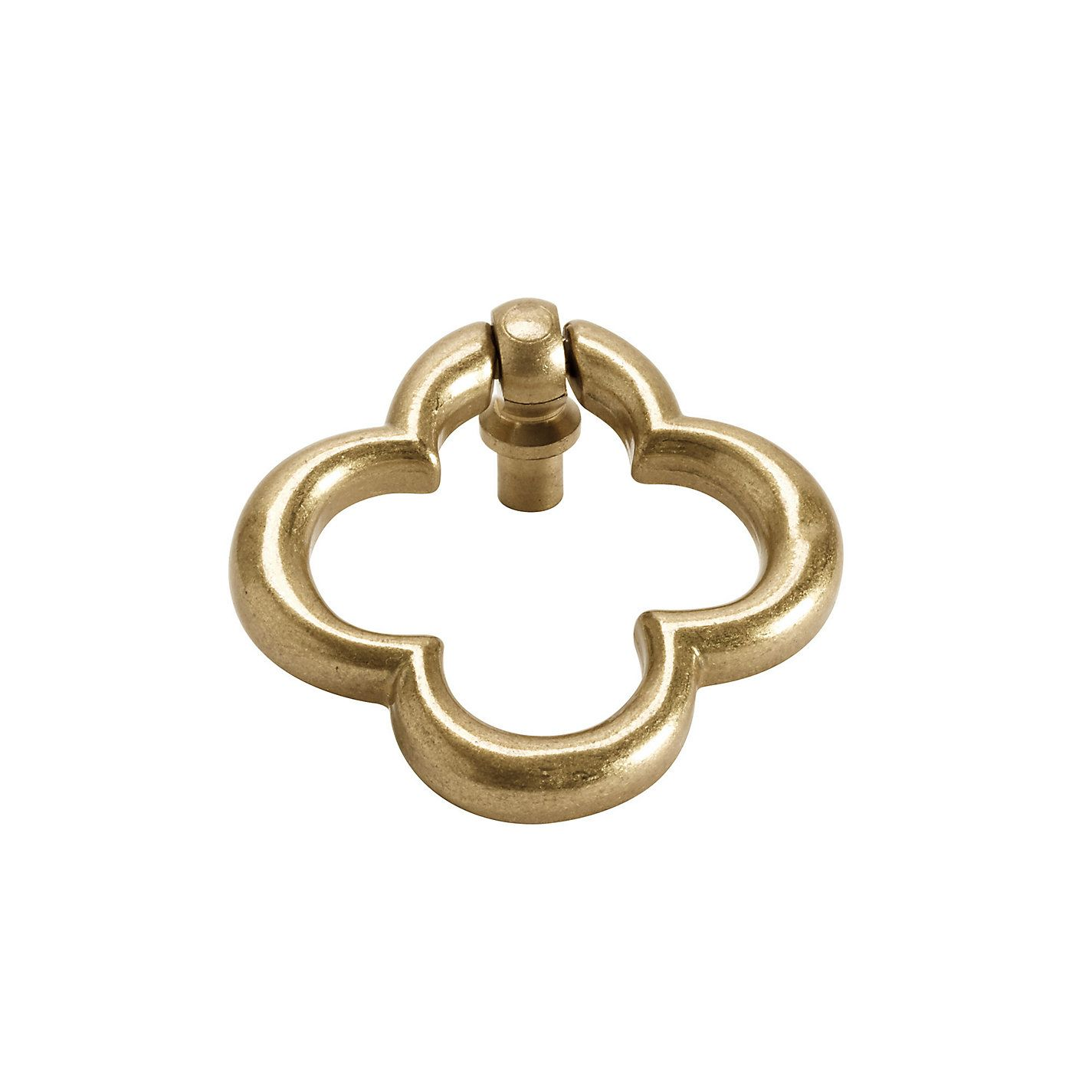 Vintage Brass Drop Pull Made in Spain Restoration Furniture Hardware
