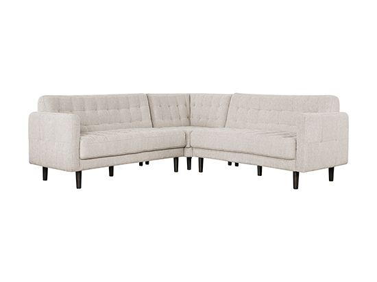 Bloom Sectional - the anthracite would be striking with all of our white.