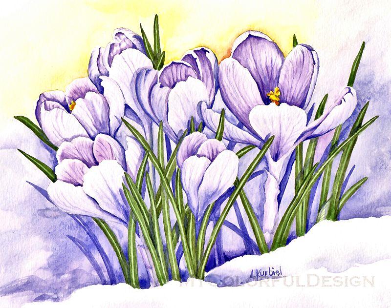 рисунки первоцветы весенние деталь столе