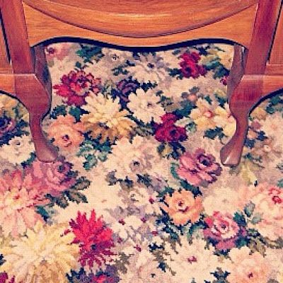 Best Flower House Floral Carpet 400 x 300