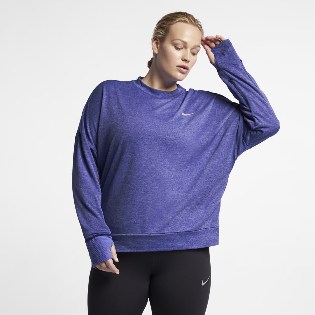 08e22c9fc2c57 Nike Sphere Element Women s Long-Sleeve Running Top (Plus Size) Size 1X  (Regency Purple)