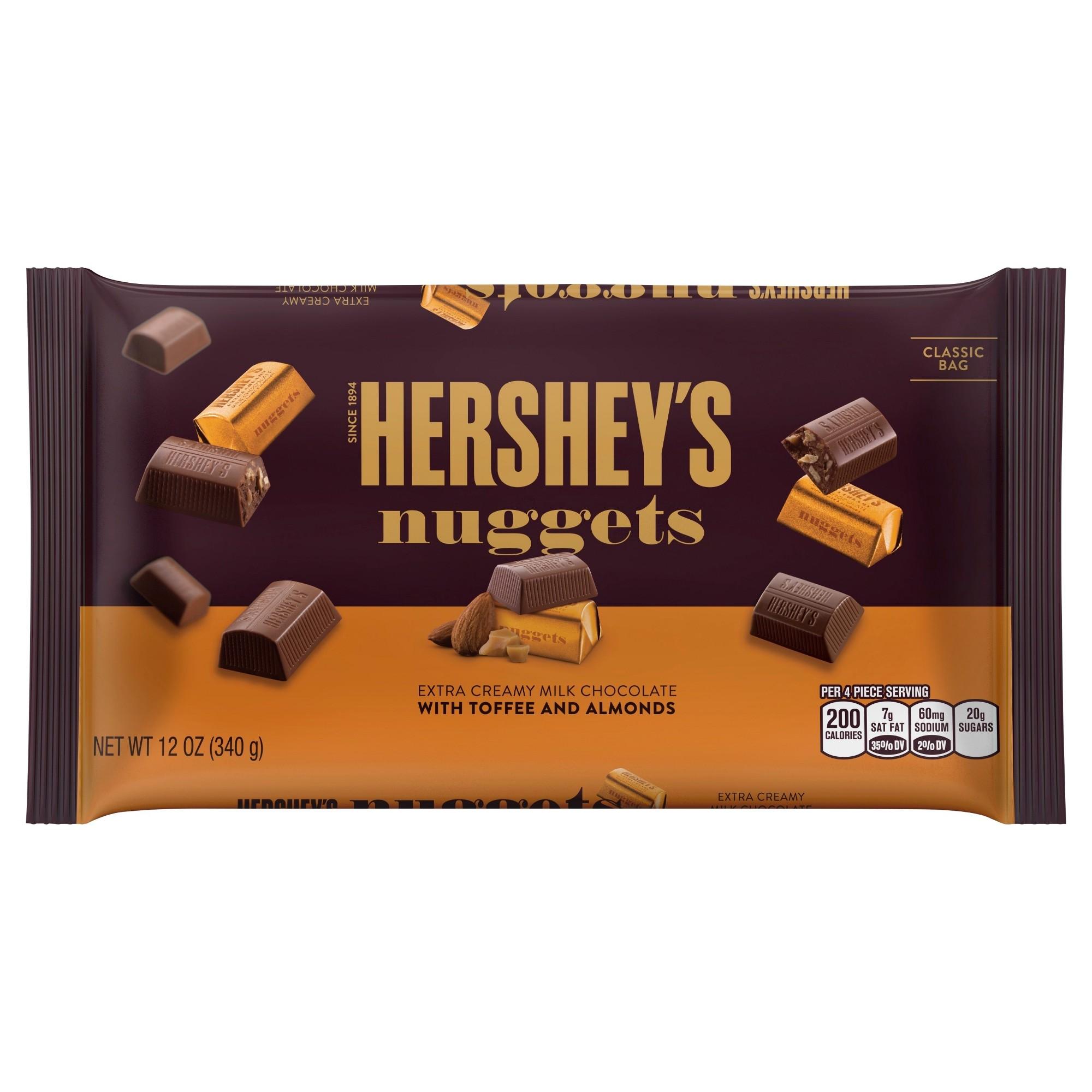 Hershey S Nuggets Milk Chocolate With Toffee Almonds 12oz