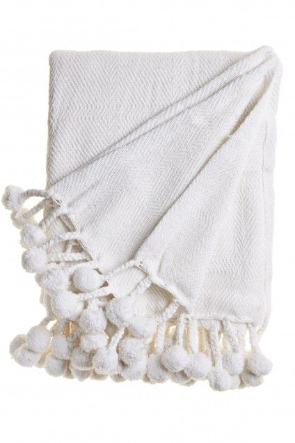 Palapa Pom Pom Throw Calypso St Barth For The Home Pinterest Simple White Pom Pom Throw Blanket