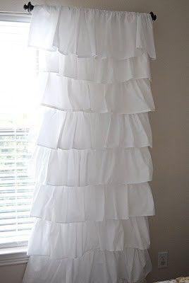 diy ruffled curtain  @sewing