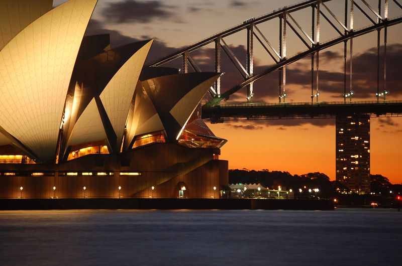 The opera house ... like a sailing boat on the harbour
