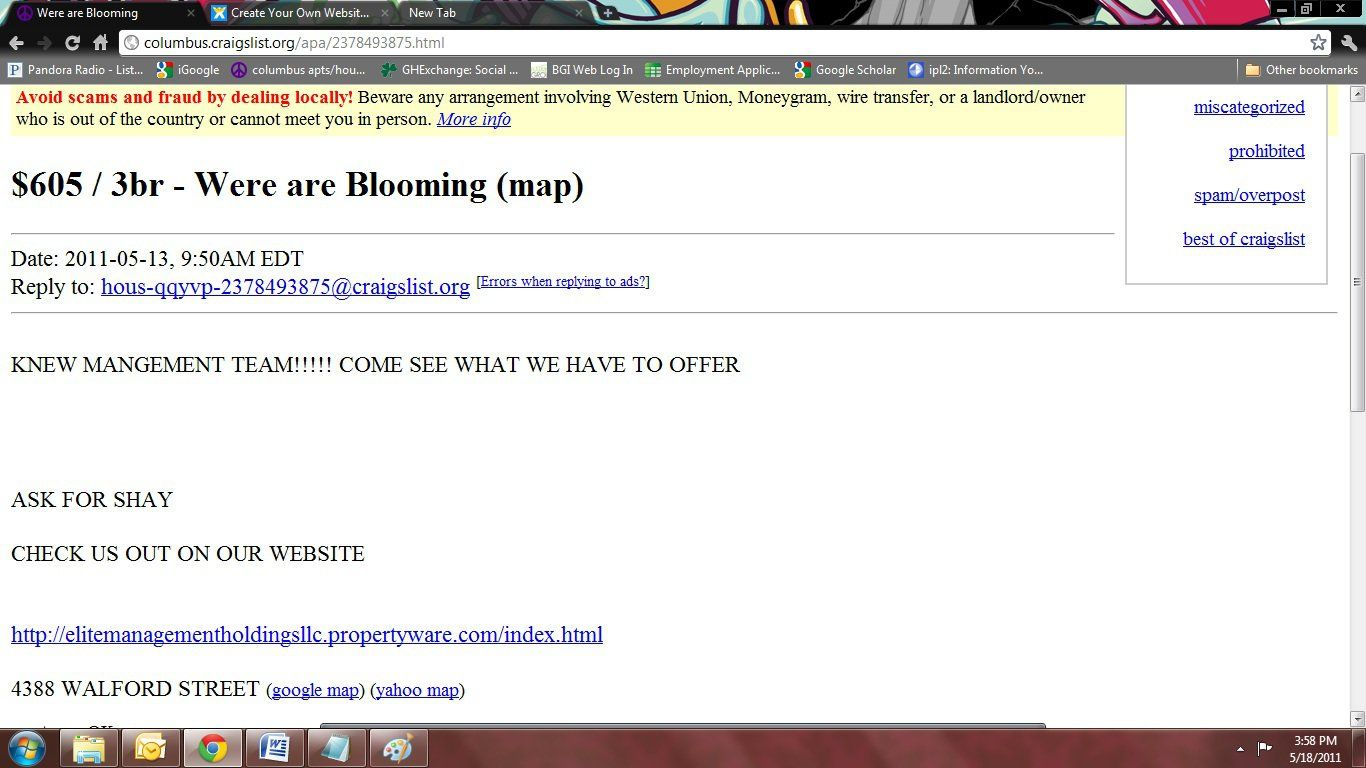 Yikes How Not To Advertise Your Community On Craigslist Being A