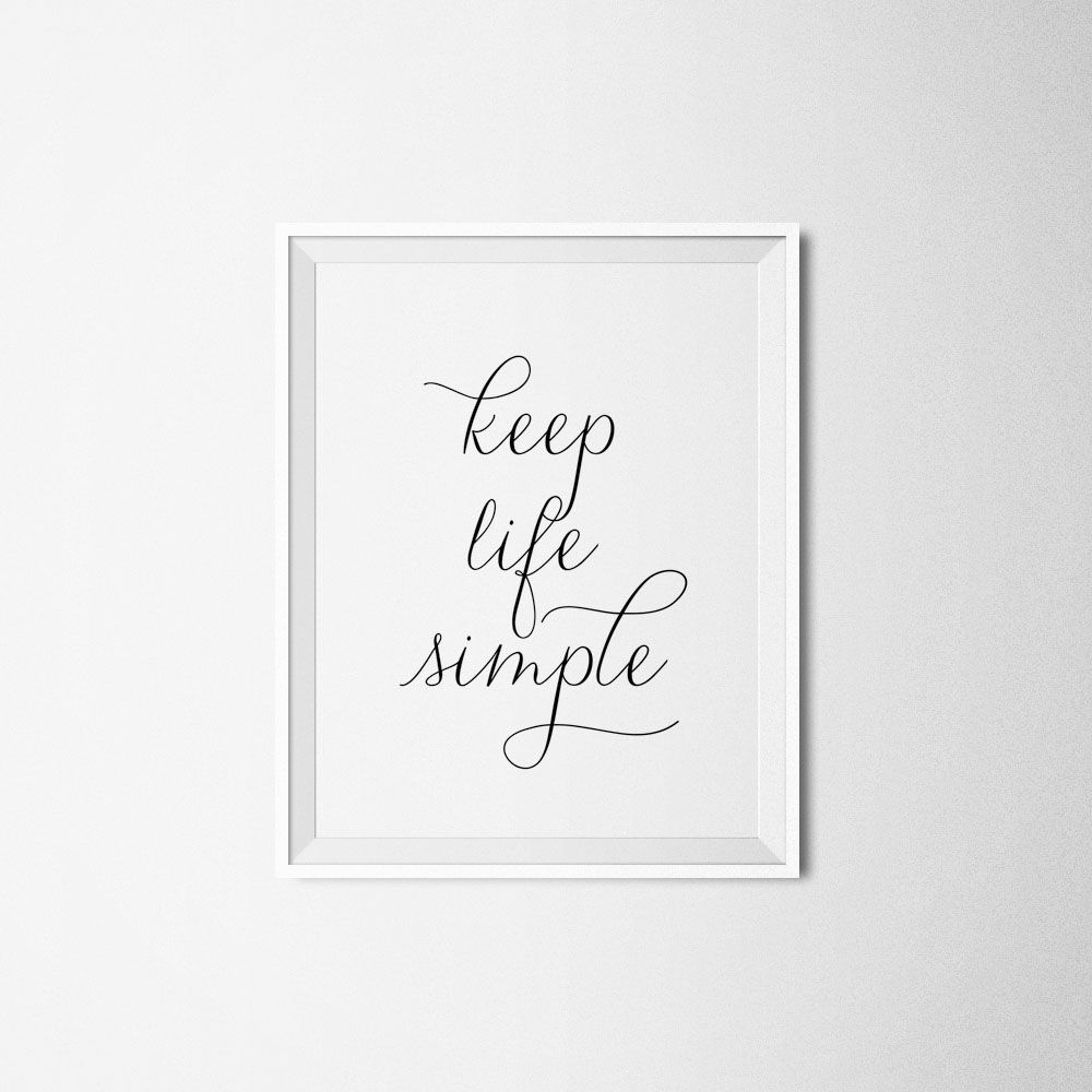 Minimalist Typography Quote Graphic Print / Posters at
