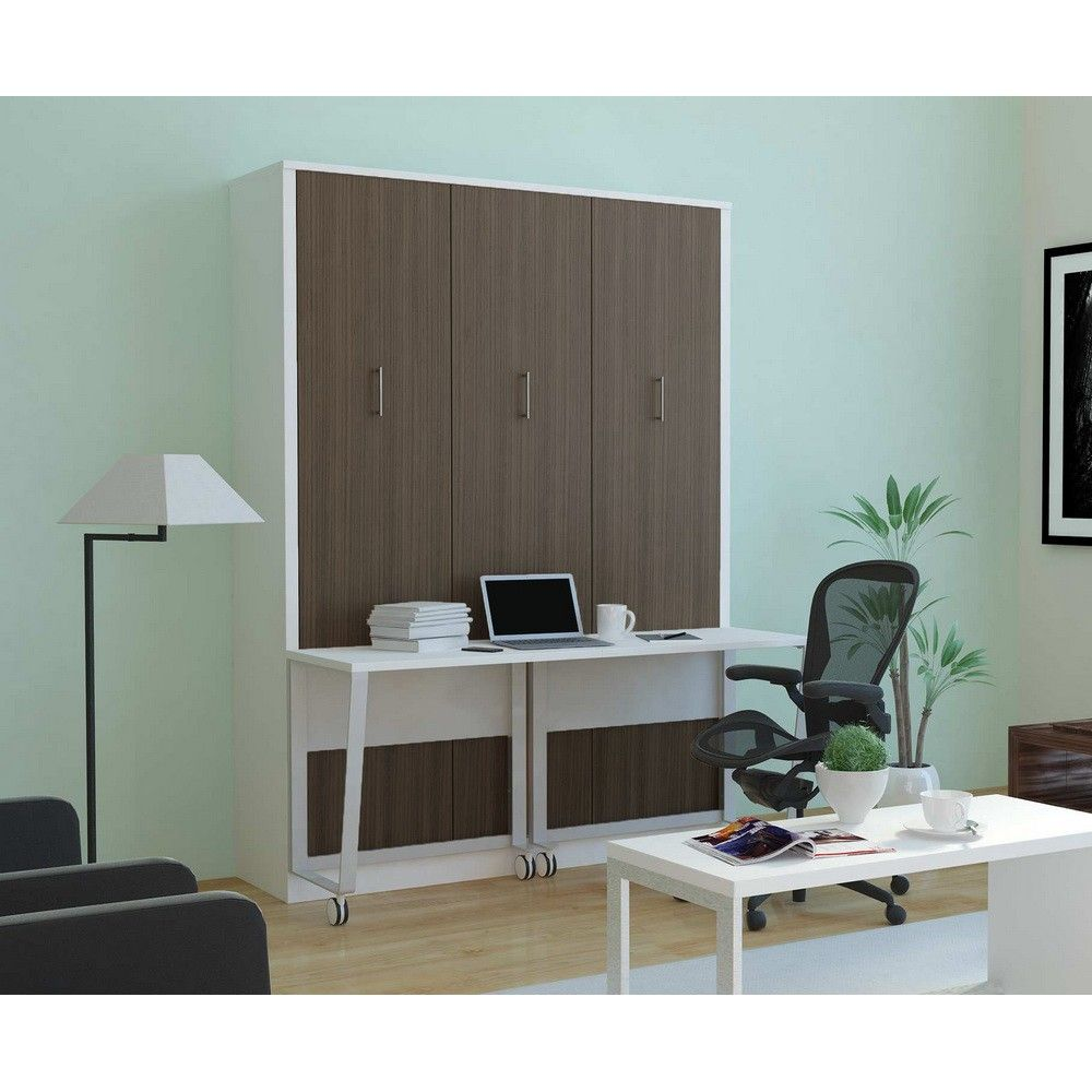 Aliance Murphy Bed With Desk Anthracite More