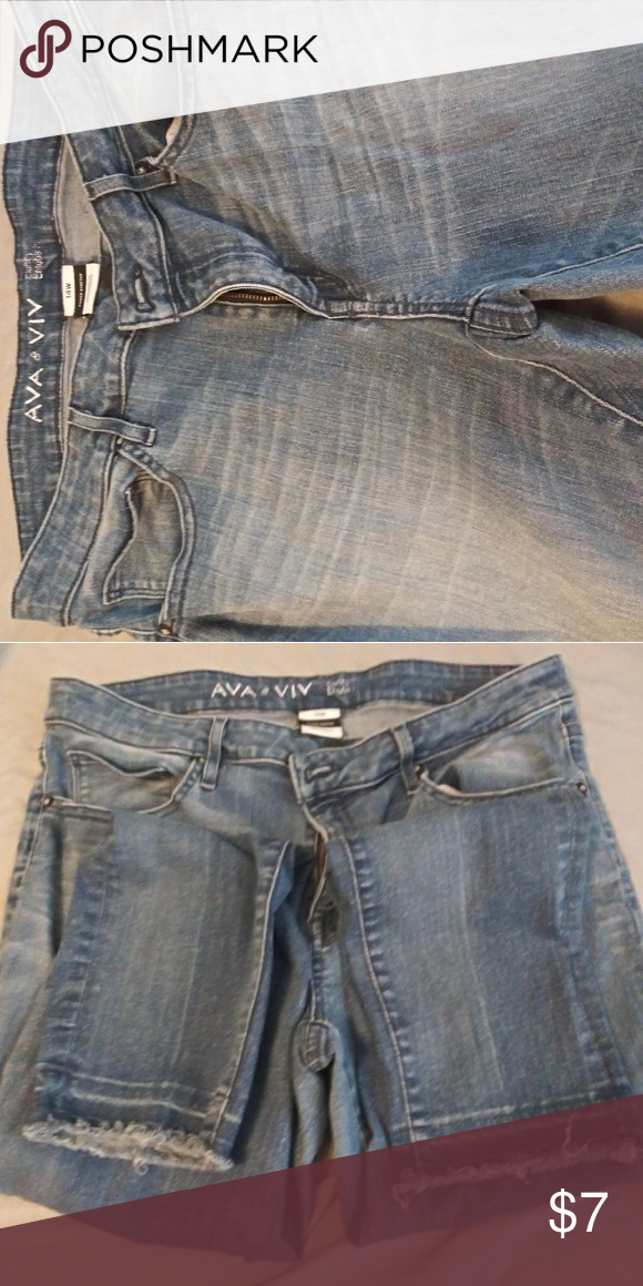 b1ac19ac22b Sz 14W Ava   Viv Cropped Jeans Super comfy Check my other listings   bundle  for