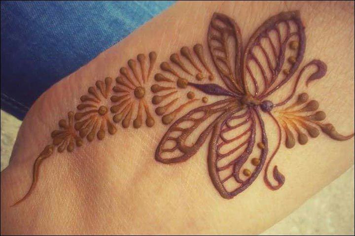 Cute Mehndi Tattoo : Butterfly mehndi designs beautiful you ll love