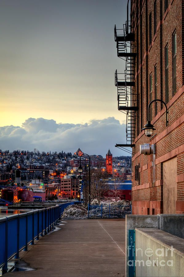 Clouds Building Over Duluth Photograph Duluth Minnesota Photography Duluth Minnesota