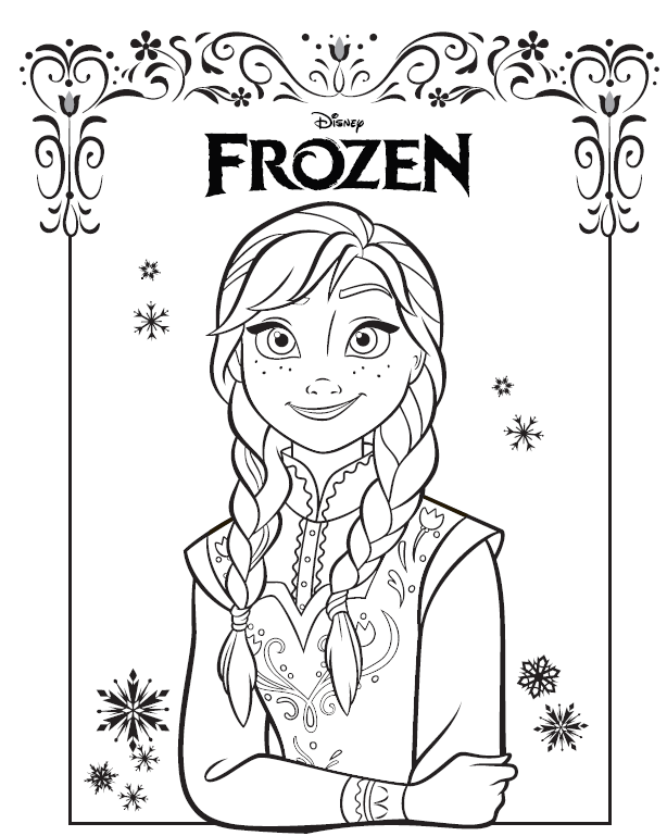 Heres The Anna Coloring Sheet We Liked Best Click Picture For More Disney Frozen Party Ideas From Pixie Dust Posse