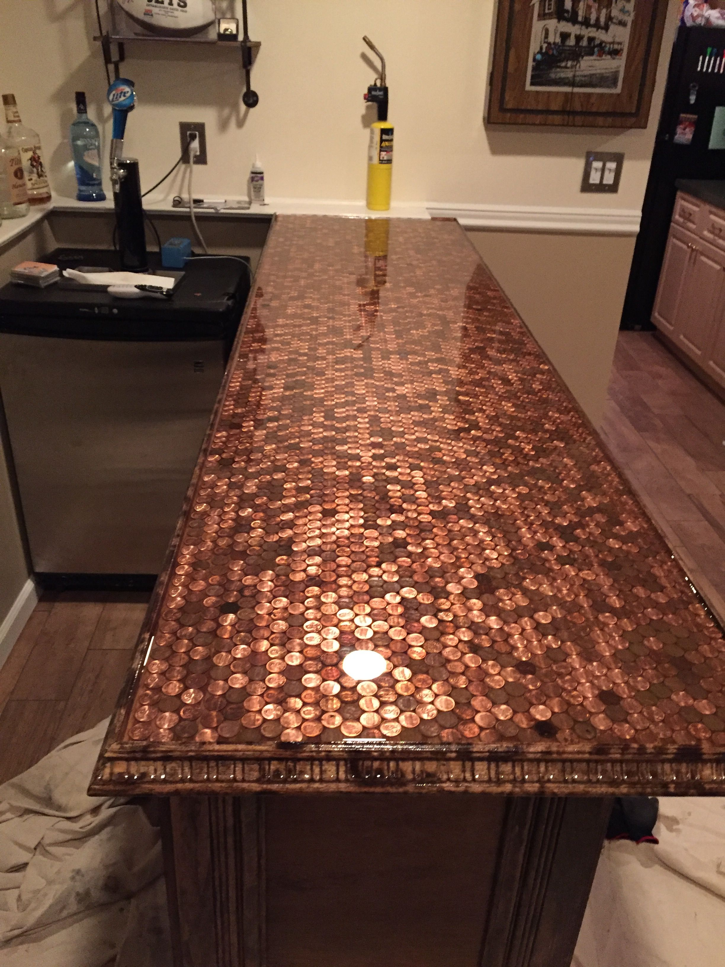 Western Countertops My Penny Bar Top D 39s Man Cave In 2019 Bar Basement