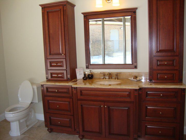 Bathroom Showrooms Taunton bertch bath cabinetry with onyx counter-top and kohler plumbing