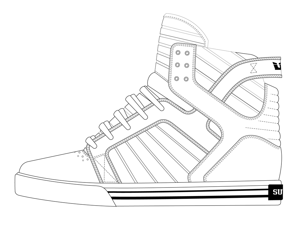 shoe outline template