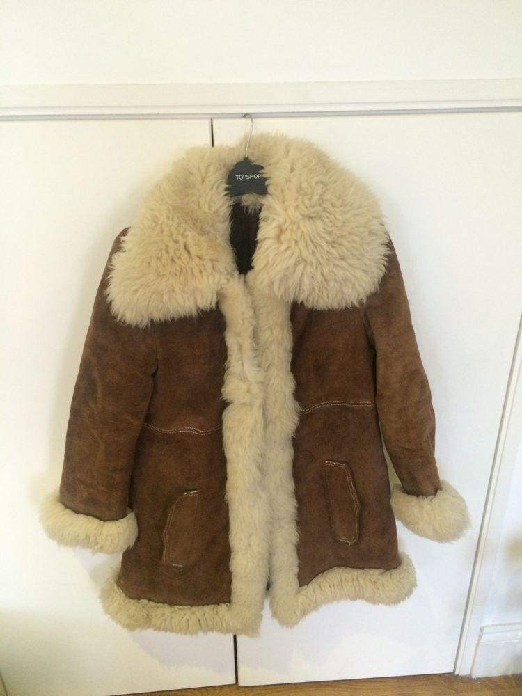 vintage 70 s afghan coat suede and sheepskin uk size 10  damen jacken pelz shearling jacken c 1_11 #13