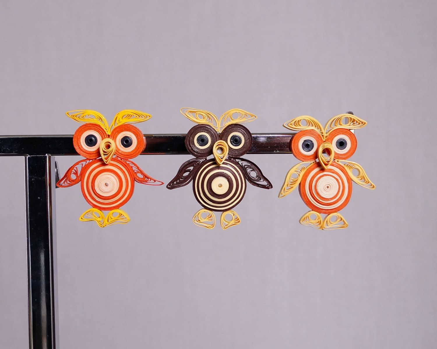 Quilling Home Decor Magnet Owl Magnet Kitchen Decor Home Decor Gift Kitchen Magnet