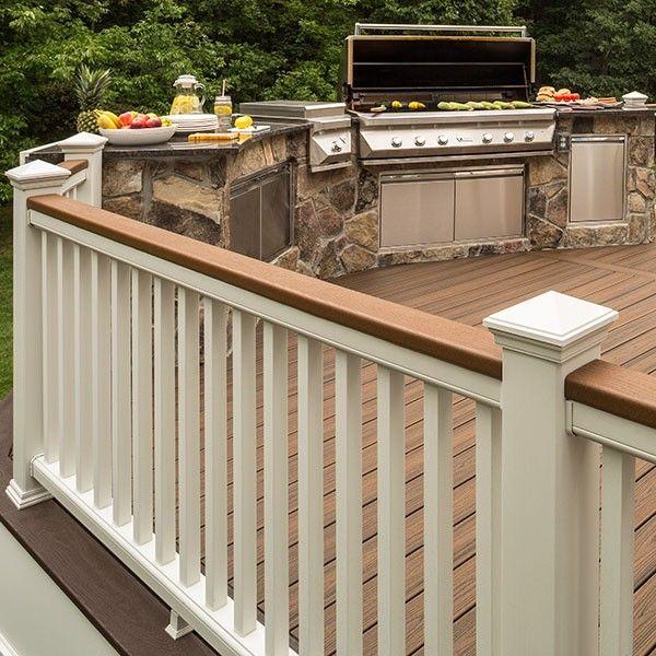 Trex Transcend Individual Top Rail | Deck railing design