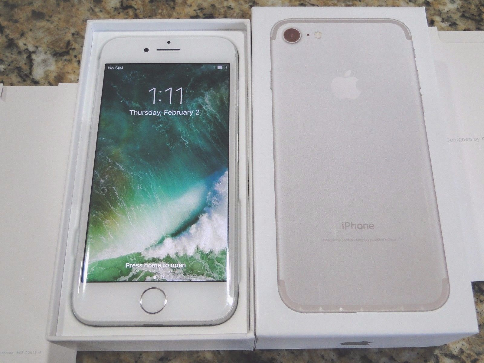 New Apple iPhone 7 256gb Silver World Unlocked Tmobile ATT ...