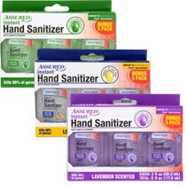 Assured 2 Oz Travel Sized Hand Sanitizers 2 Ct Packs Travel
