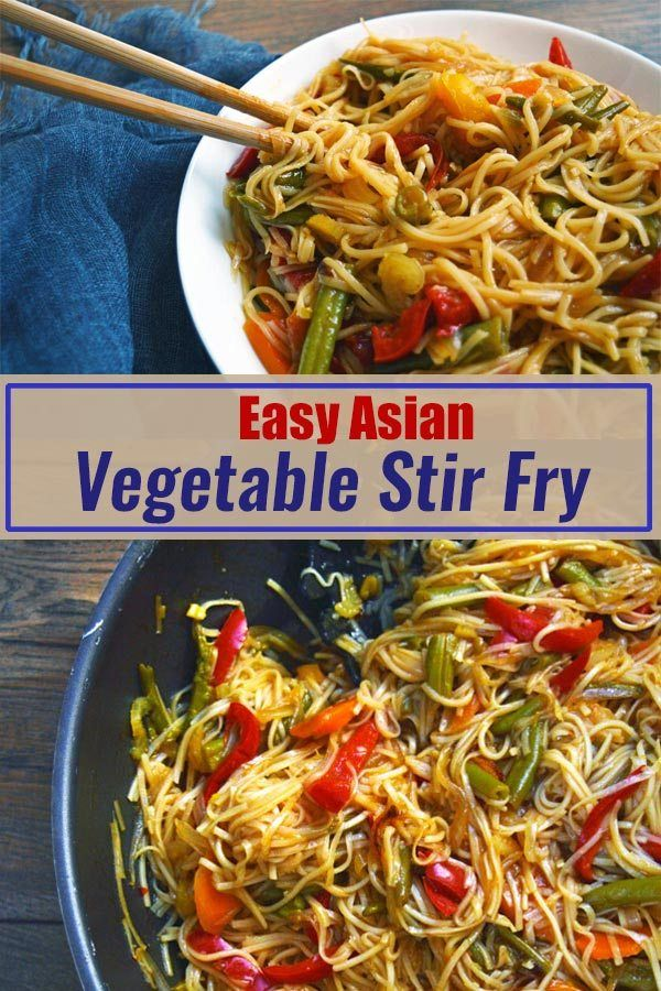 Vegetable Stir Fry with Noodles #vegetablestirfry